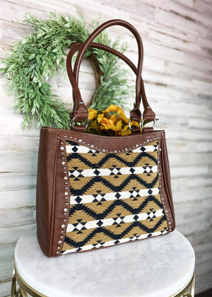 Brown Aztec Handbag