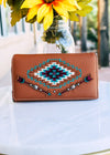 Brown Arrow Aztec Wallet
