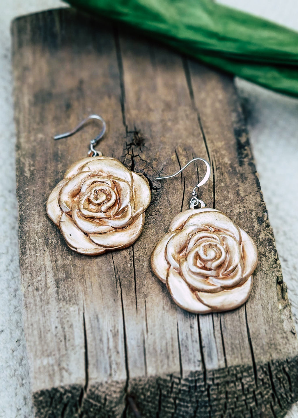 Cappuccino Rose Earrings