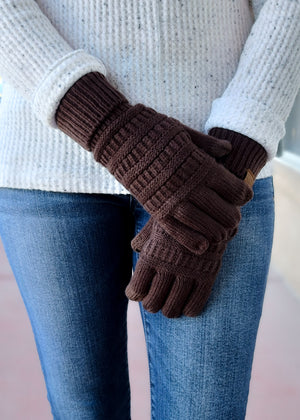 chocolate brown gloves