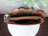 Concealed Carry Brown Swirl Crossbody Handbag