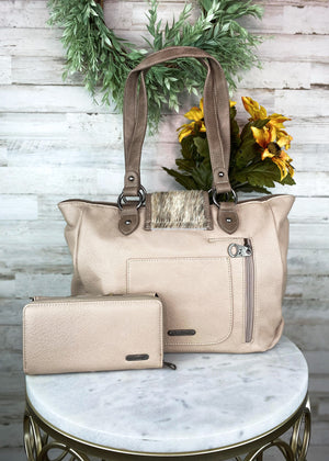 Concealed Carry Tan Cowhide Western Handbag & Wallet