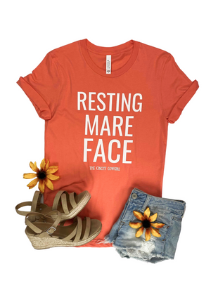 Coral Resting Mare Face Short Sleeve Graphic Tee