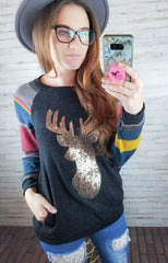 Aztec Deer Long Sleeve