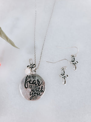 Do Not Fear Disk Necklace
