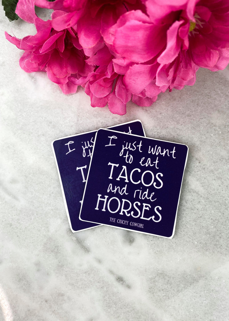 Eat Tacos Stickers- 2 Pack