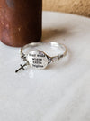 Fear Ends Where Faith Begins Bracelet