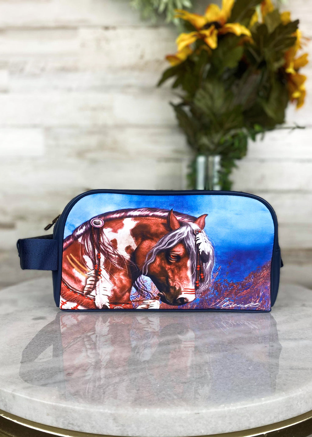 Horse Cosmetic Travel Case