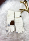 Ivory Knit Gloves on rug