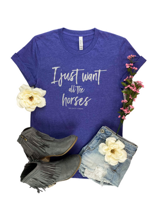 Lapis I Just Want All The Horses Graphic Tee