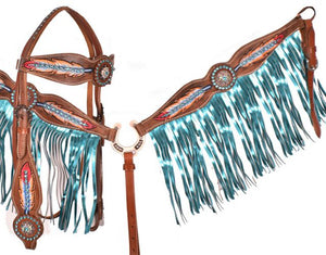 Light as a Feather Fringe Headstall Set