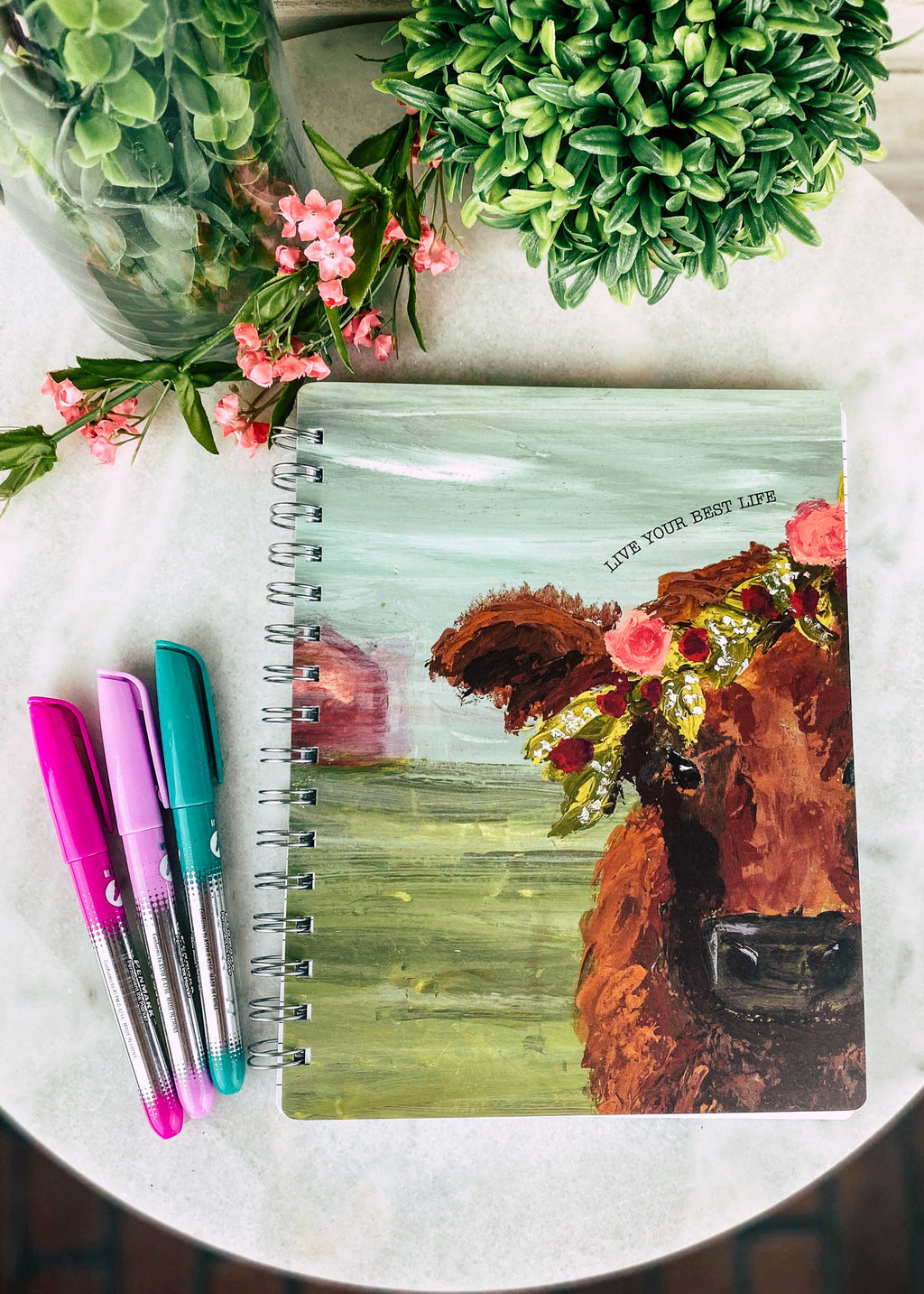 Live Your Best Life Cow Journal