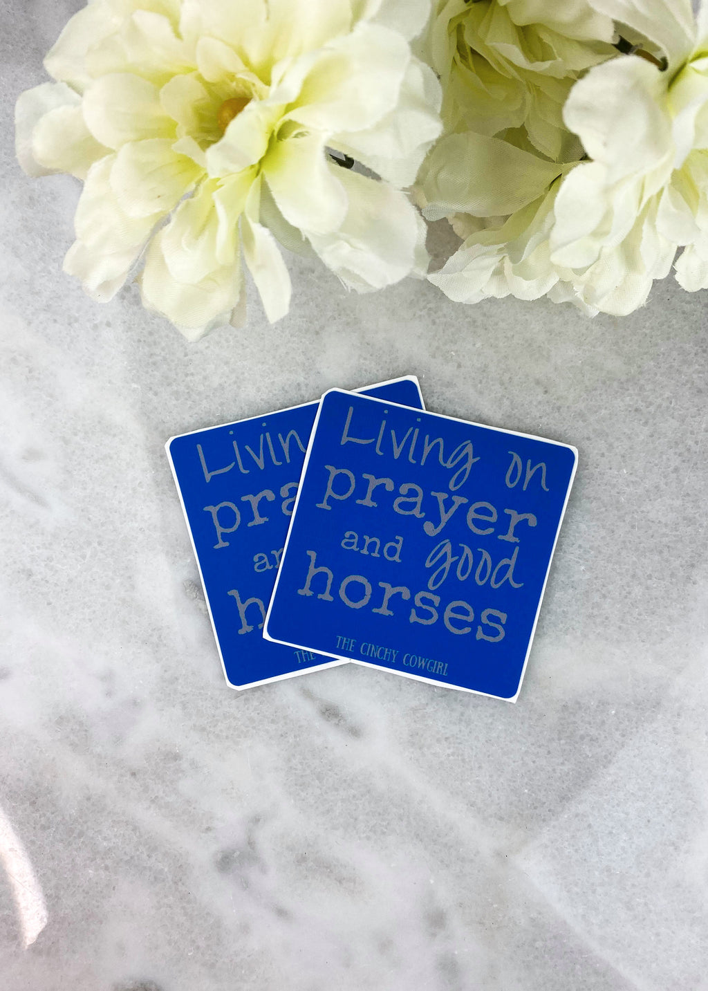 Living on Prayer & Good Horses Stickers- 2 Pack
