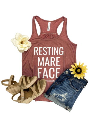 Marble Mauve Resting Mare Face Tank