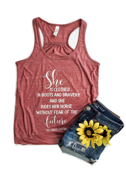 Marble Mauve She is Clothed Tank Top