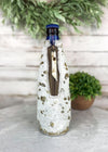 Gold Metallic Cowhide Tall Bottle Cooler