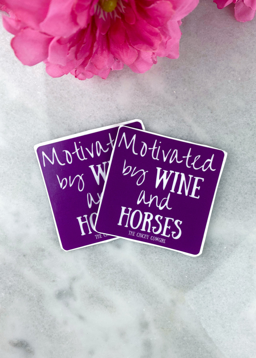 Motivated by Wine Stickers- 2 Pack
