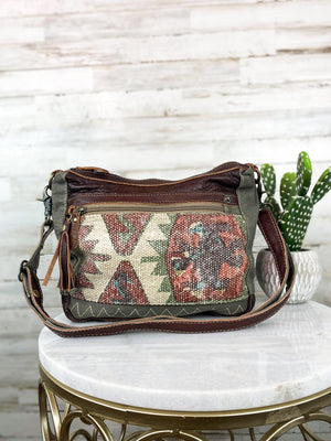 multi color aztec crossbody handbag