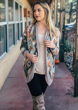 Multi Color Aztec Cardigan