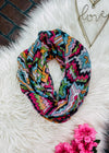 Multi Color Aztec Infinity Scarf