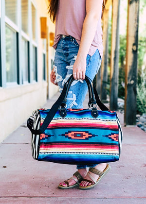 Multi Color Aztec Weekender Bag