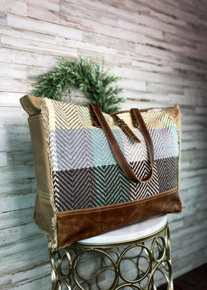 Plaid Multi Color Weekender Bag