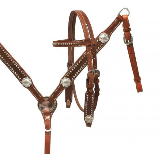 PONY Silver Concho Headstall Set