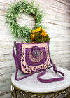 Purple Concho Crossbody Handbag