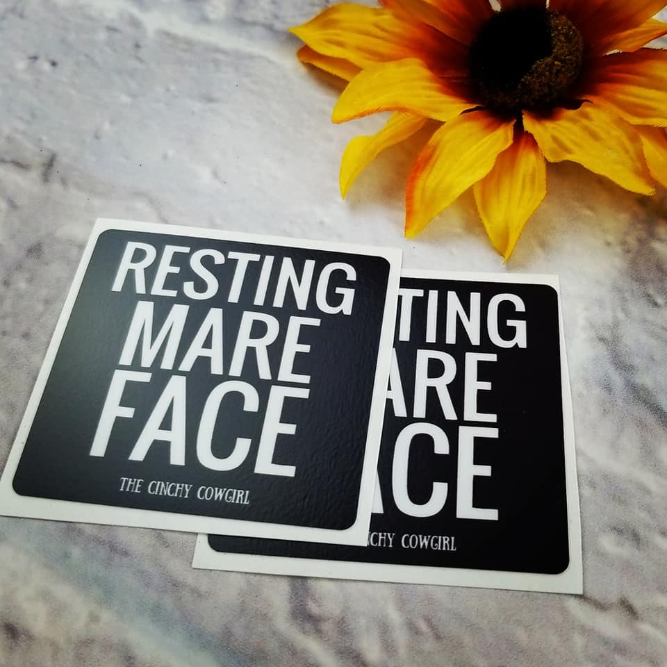 Resting Mare Face Stickers- 2 Pack