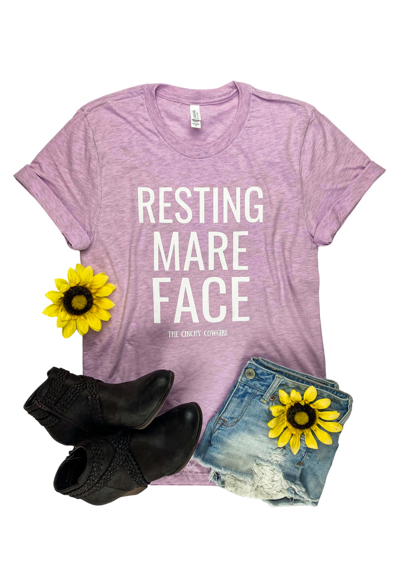 Lilac Resting Mare Face Short Sleeve Graphic Tee