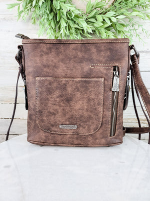 Concealed Carry Trinity Ranch Embossed Crossbody Handbag