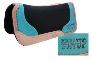Turquoise Kick The Dust Up Saddle Pad