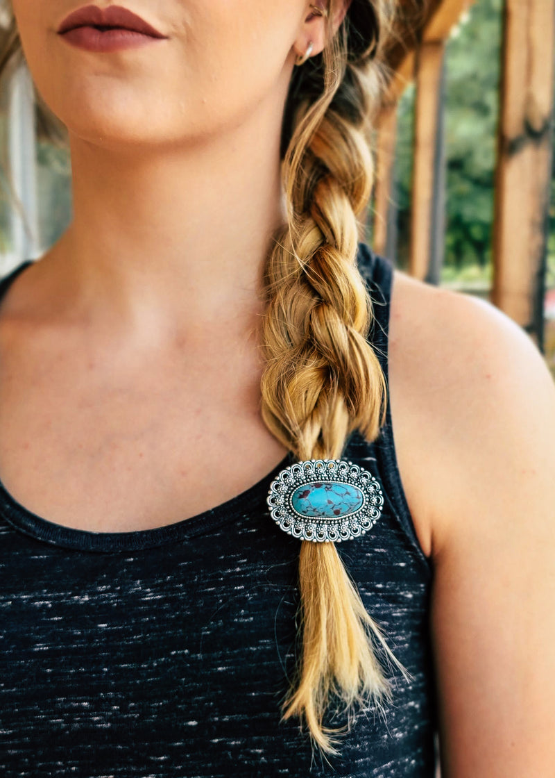Turquoise Natural Stone Hair Tie
