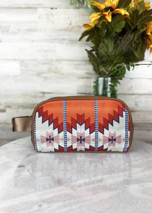 Warm Aztec Cosmetic Travel Case