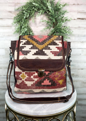 Warm Aztec Messenger Handbag