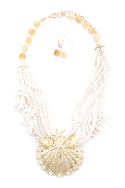 Seashore Eclectic Necklace and Earring Set