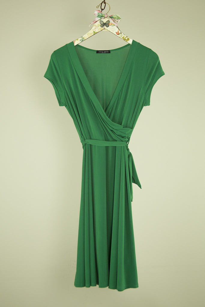 Emerald Low V-Neck Dress