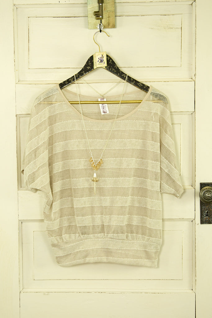 Easy Breezy Sheer Striped Top