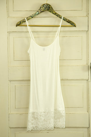 Tunic-length Lace Bottom Camisole