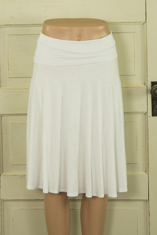 Wide Band Mid-Length Skirt