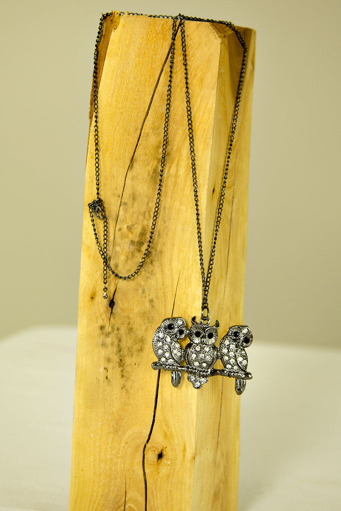 Three Owl Necklace