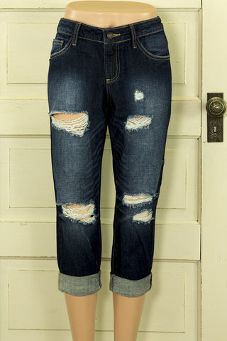 Worn Look Capri Jeans