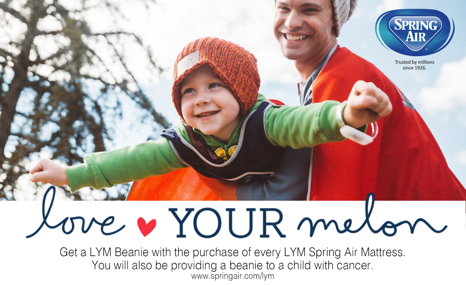 NEWS FLASH!!! Spring Air teams up with Love your Melon in the fight against Cancer.