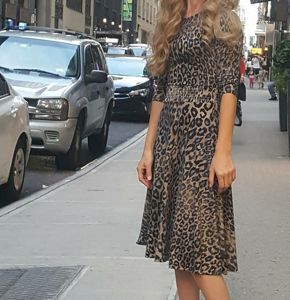 Leopard Waisted Dress