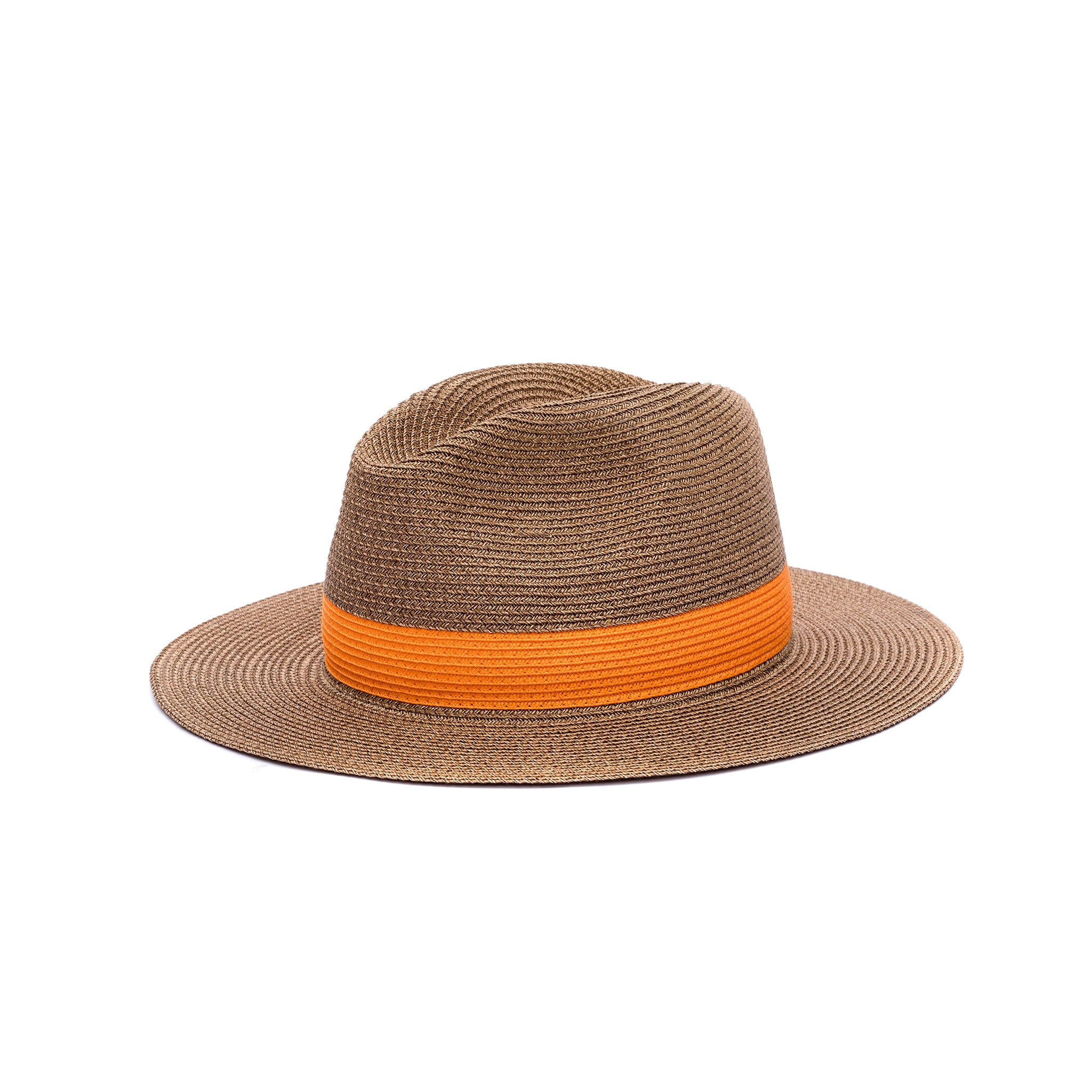 Chapeau Portofino Marron/Orange