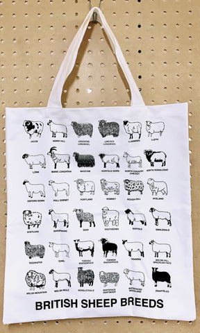 British Sheep Breeds Tote Bag