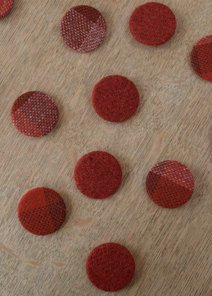 Woollen Fabric Covered Badges