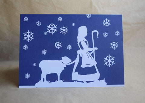 Daughter of a Shepherd Winter Logo Notecard