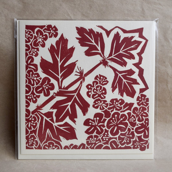 Linocut Nature greetings cards