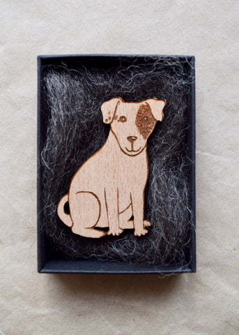 DeeDee Wooden Brooch
